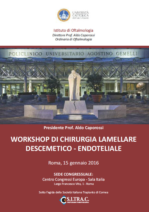 Workshop di chirurgia lamellare